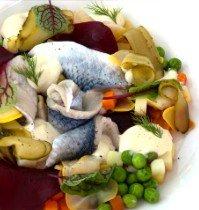 El exquisito arenque preparado en Fishka.