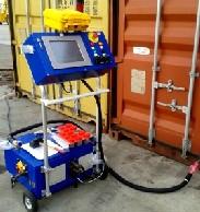 Parte del equipo detector de explosivos desarrollado por la compañía española SEDET (Sociedad Europea de Detección).