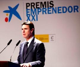El Ministro Soria durante la entrega de premios.