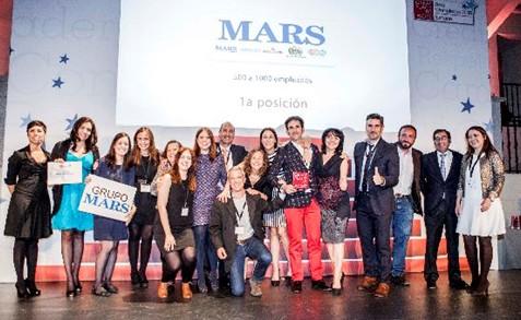 Grupo Mars número uno en los premios Great Place to Work® 2015