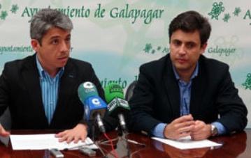 Los dos ediles de Galapagar investigados: a la izquierda, el concejal-delegado de Hacienda Fernando Arias Moral, y a la derecha, el alcalde-presidente Daniel Pérez (PP).