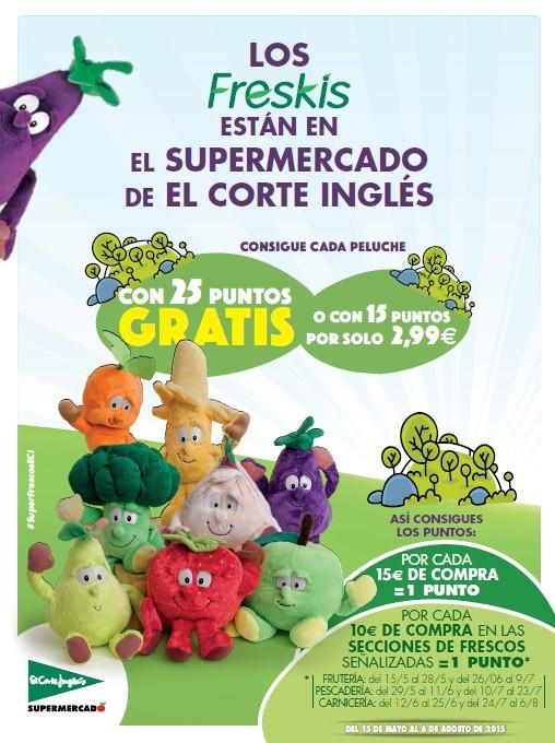 """""""Los freskis"""" llegan al súper de El Corte Inglés para acercar las frutas y las verduras a los más pequeños"""