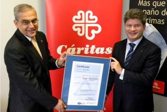 """TÜV Rheinland certifica en ISO 9001 y UNE 158201 al Centro de Rehabilitación Psicosocial """"San Carlos"""" de Cáritas Diocesana de Zaragoza"""