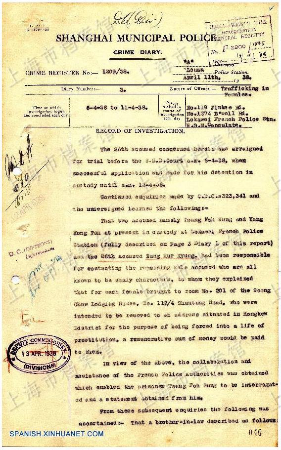 Nuevos archivos desveñlan que las mujeres de Shanghai fueron seducidas y luego vendidas como esclavas sexuales por los japoneses