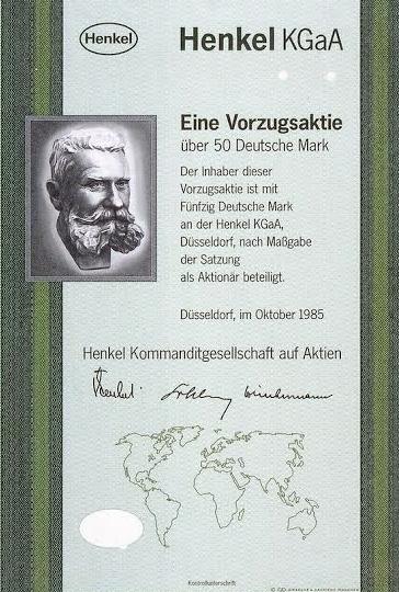 Primera acción preferente de Henkel (1985)