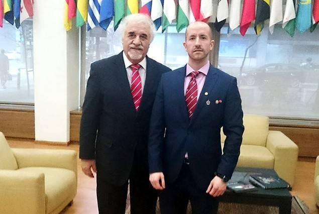 El la imagen, a la izquierda, el Presidente de Honor del Congreso, el Embajador George Massaad, junto al Gran Pr�ncipe Jorge Rurikovich, Consejero de Relaciones Institucionales y Miembro del Comit� de Honor en Expofooding World Congress.
