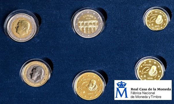 """La Real Casa de la Moneda-FNMT lanza monedas euro del año 2016 en calidad """"proof"""""""