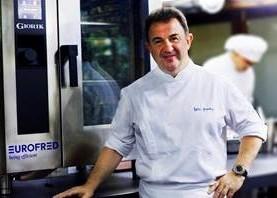 Martín Berasategui con el horno Steambox Evolution de la marca Giorik.