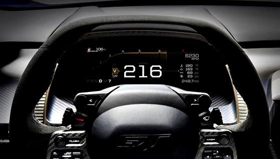 Ford desvela el nuevo tablero de mandos digital del Ford GT