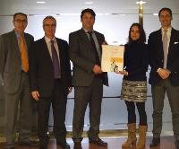 De izquierda a derecha: José García,  Juan Sánchez,  Rafael Hernández, Marina Moro y   Alejandro Vigil.