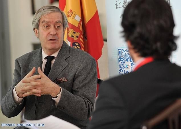 El embajador de España en China, Manuel Valencia (Copyright foto: Xinhuanet/Xu Xin)