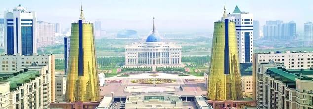 Vista de Astana, la futurista capital de Kazajstán.