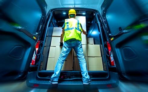 Colocar correctamente la carga en furgonetas