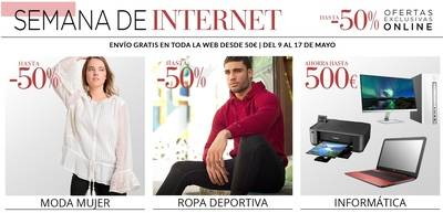 El Corte Inglés inicia la Semana de Internet con descuentos en su web de hasta el 50%