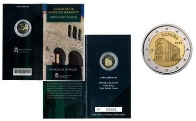 Nueva moneda de 2 euros de la Iglesia de Santa María del Naranco