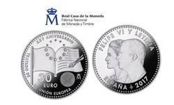 Nueva moneda conmemorativa del XXV Aniversario de la Firma del Tratado de la Unión Europea