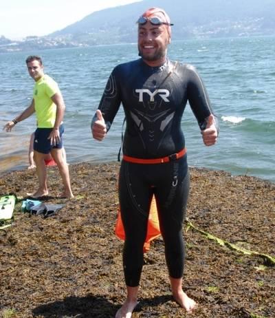Sergio Torres se proclamó campeón de la VI Batalla de Rande de natación en aguas abiertas