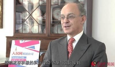 Lord James Sassoon, presidente del Consejo de Negocios China-Reino Unido (CBBC).