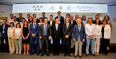 """CaixaBank, la Fundación Bancaria """"la Caixa"""" y el COE reúnen a los medallistas de Barcelona'92"""