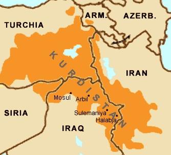 En el mapa se aprecia la extensión del territorio kurdo, encuadrado en la actualidad entre diversos países. La fracción siria ha luchado contra el Estado Islámico.