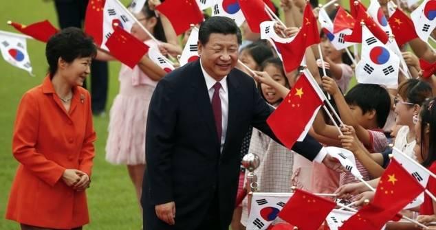 El presidente de China Xi Jinping ha realizado en los últimos años varias visitas a Corea del Sur, donde China alcanza un gran protagonismo.