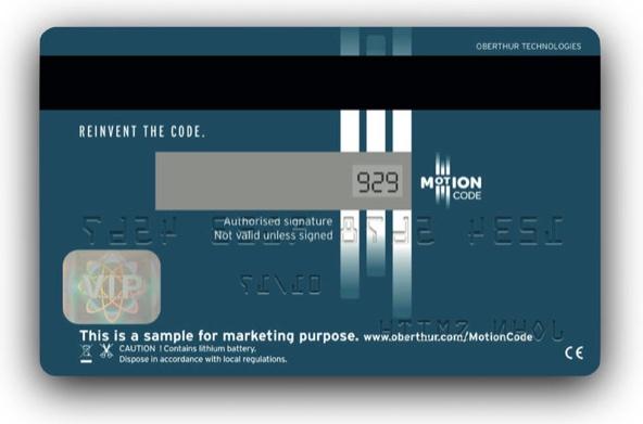 Motion Code, el código de seguridad cambiante para tarjetas