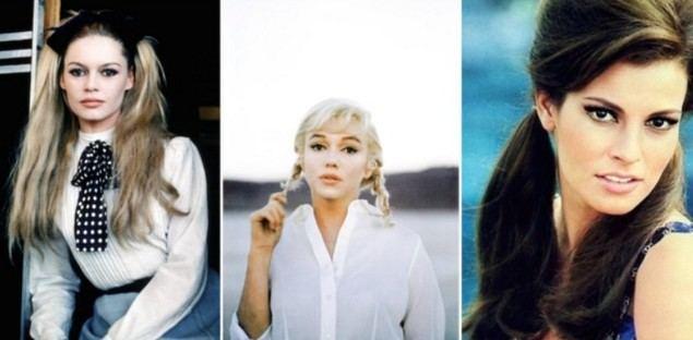 Brigitte Bardot, Marilyn Monroe y Raquel Welch… tres iconos, tres tipos de coleta