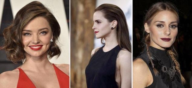 Miranda Kerr (Fake Bob), Emma Watson (Wet Look) & Olivia Palermo (Coleta francesa)