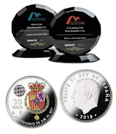 Dos monedas de la Real Casa de la Moneda premiadas en la Mint Directors Conference