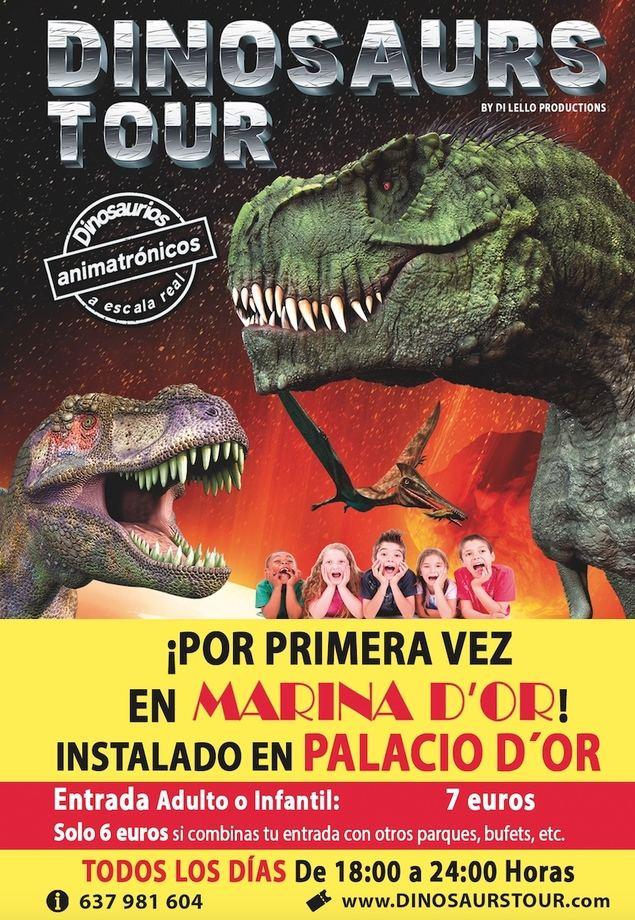 Dinosaurs Tour, la mayor exposición de dinosaurios animátrónicos llega a Marina d'Or