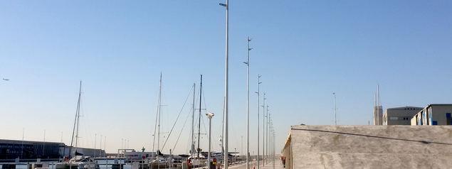 El Paseo Marítimo de Barcelona culmina su reforma con iluminación led
