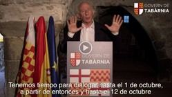 Albert Boadella, Presidente de Tabarnia en Exilio, anuncia un Referéndum unilateral para la creación de la Comunidad Autónoma de Tabarnia para el próximo 12 de octubre.