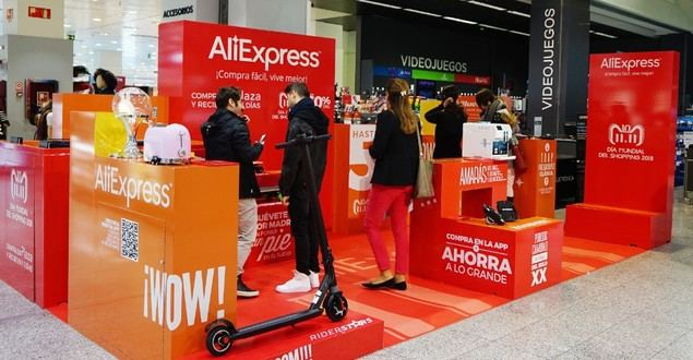 Alianza de El Corte Inglés y AliExpress para abrir una 'pop up' exclusivo en Madrid