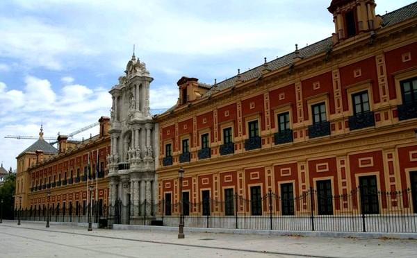 El Palacio de San Telmo, sede de la Presidencia de la Junta de Andalucía.