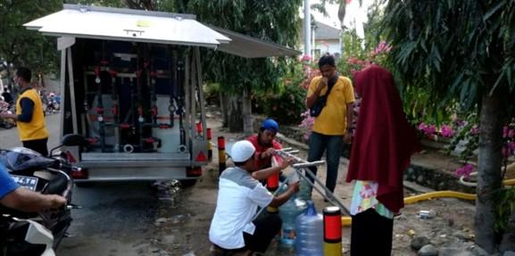 Eurofinsa construye unas plantas potabilizadoras en Indonesia, imprescindibles tras el terremoto