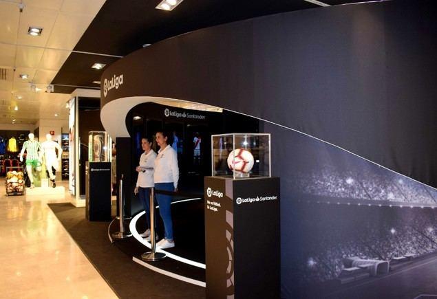 LaLiga Córner, nuevo espacio interactivo en los centros de El Corte Inglés