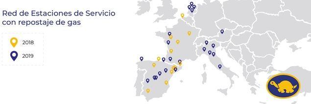 Red Tortuga irrumpe en el negocio del gas con trece estaciones en Europa