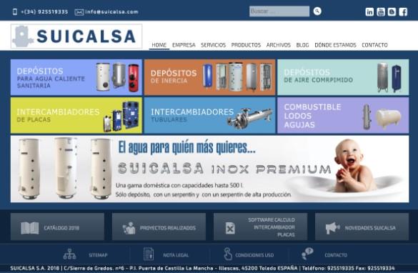 SUICALSA, referente en la fabricación de depósitos de agua y productos a medida para fontanería, inaugura web