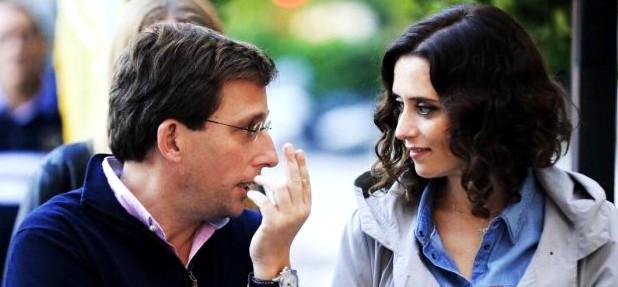 Isabel Díaz Ayuso y José Luis Martínez-Almeida, candidatos del PP al Ayuntamiento de Madrid.