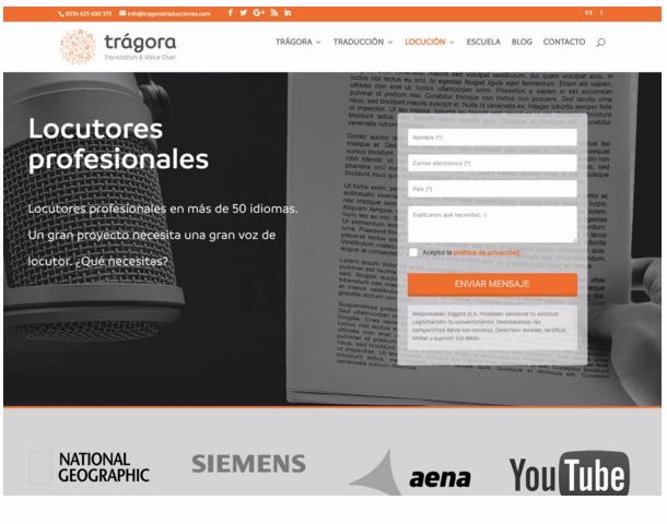 Trágora, un servicio de locutores profesionales para tu marca