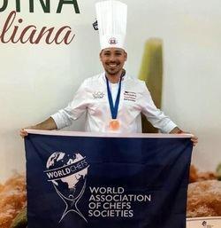 Daniel García Peinado logra la primera medalla de bronce para España en cocina