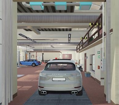 Porsche desarrolla la conducción autónoma en el taller Stuttgart/Munich
