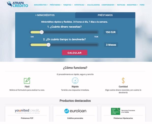 El comparador Atrapacrédito crea un nuevo sistema para encontrar el mejor crédito online del mercado
