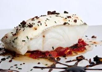 Lomo de bacalao al horno con alioli, de Los Galayos.