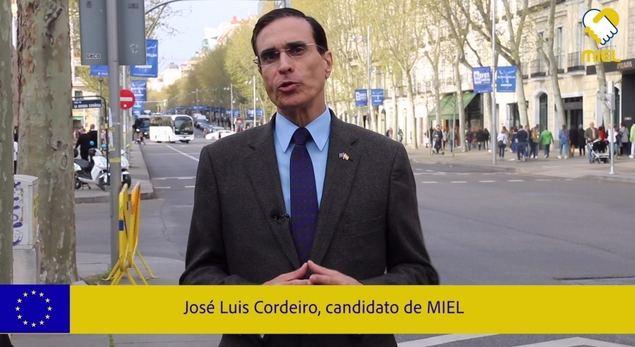 El ingeniero del MIT José Luis Cordeiro es el candidato al Parlamento Europeo del 'Movimiento Independiente Eurolatino'.