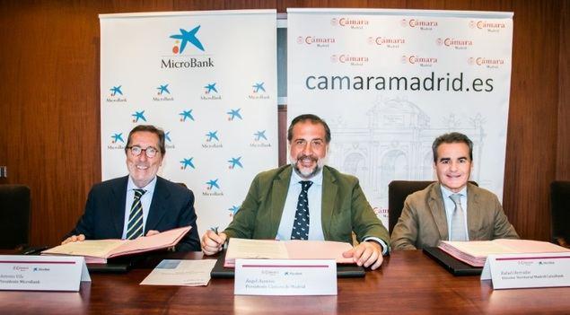La Cámara de Comercio de Madrid y MicroBank suscriben un convenio de colaboración para incentivar el autoempleo y la actividad emprendedora en la región