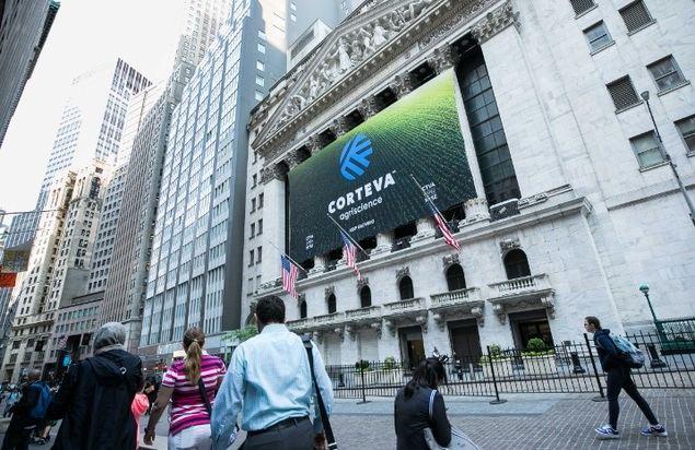 Corteva vive un día histórico con su salida a bolsa en Wall Street