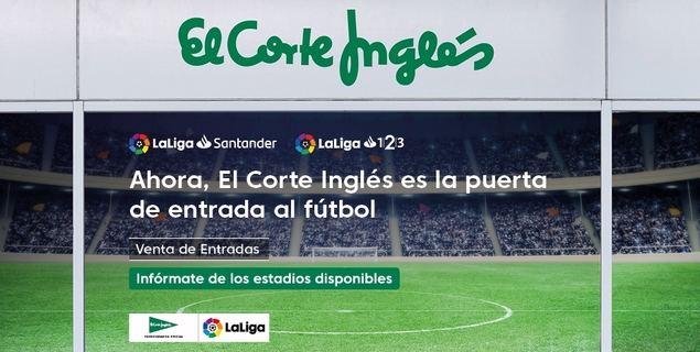 El Corte Inglés vende por primera vez entradas de los clubes de fútbol de LaLiga