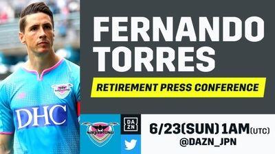 La rueda de prensa de Fernando Torres se podrá seguir en directo en exclusiva con DAZN