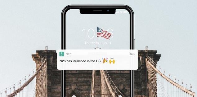 El banco móvil N26 aterriza en Estados Unidos